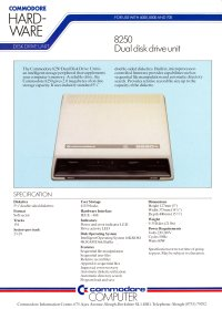 Brochures: Commodore 8250 lp (low profile)