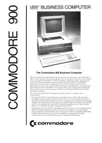 Brochures: Commodore 900