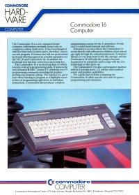 Brochures: Commodore C16