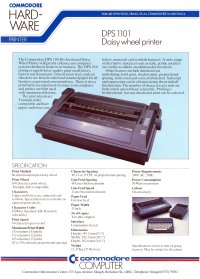 Brochures: Commodore DPS 1101