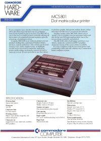 Brochures: Commodore MCS 801