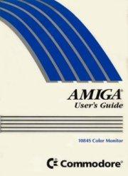 AMIGA User's Guide 1084S Color Monitor