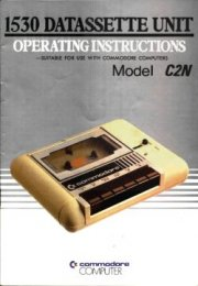 1530 Datassette Unit Operating Instructions