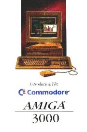 Introducing The Commodore Amiga 3000