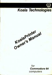 KoalaPrinter Owner's Manual