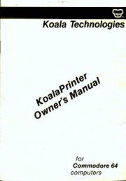 KoalaPrinter Owner's Manual