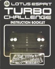 Lotus Esprit Turbo Challenge Instruction Booklet