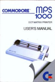 Commodore MPS 1000 User's manual