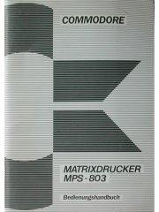 Commodore Matrixdrucker MPS-803 Bedienungshandbuch
