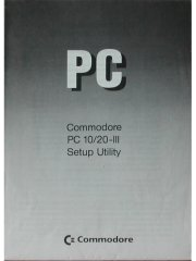 Commodore PC10/20-III Setup Utility