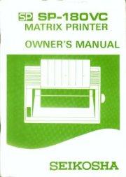 SP-180VC Matrix Printer Owner's Manual