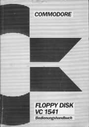 Commodore floppy disk VC 1541 Bedienungshandbuch