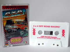 Commodore C64 game (cassette): 4 x 4 Off Road Racing
