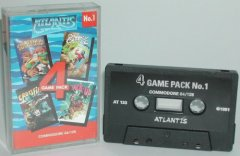 Commodore C64 game compilation (cassette): Atlantis Gamepack No.1