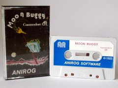 Commodore C64 game (cassette): Moon Buggy