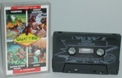 Commodore C64 game (cassette): Quatro Adventure