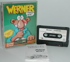 Commodore C64 game (cassette): Werner - mach hin