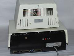Rear view of the Commodore CBM 3016 computer.