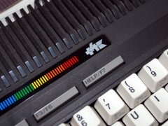 The different logo on the Commodore +4.