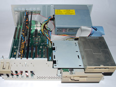 Inside of the Amiga 2000 computer.