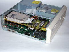 Inside of the Commodore Amiga 4000/40.