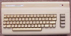 The Commodore C64g with different color and new style keyboard.