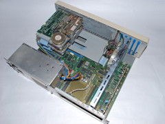 Inside of the Commodore PC 10 computer.