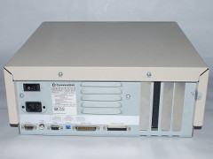 The rear view of the Commodore PC 10-III computer.