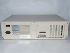 Rear view of the Commodore PC 20-II computer.
