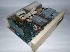 Inside of the Commodore PC 20-II computer.