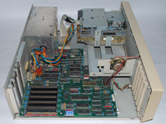 The motherboard of the Commodore PC 20-II computer.