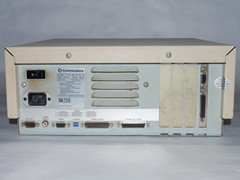 Rear view of the Commodore PC 20-III computer.
