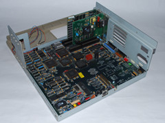The motherboard of the Commodore PC 30-III computer.