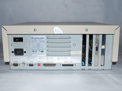 Rear view of the Commodore PC 35-III computer.