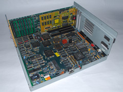 The motherboard of the Commodore PC 35-III computer.
