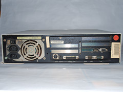 Rear view of the Commodore 386SX-16 computer.