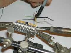 XE1541 soldering the diodes.