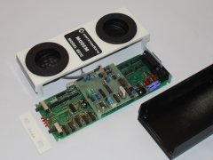 The inside of the Commodore 8010  modem.