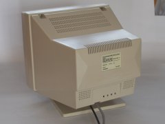 The rear side of the Commodore 1404 monitor.