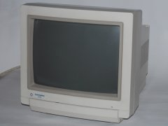 The front side of the Commodore 1942 monitor.
