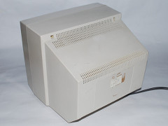 The rear side of the Commodore 76BM13 monitor.