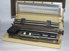 Innerhalb des Commodore 8023P Drucker.