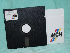 MCN, MD D2 diskette with envelope.