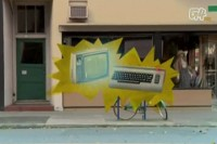 An Commodore C64 computer in a promo clip for the TV program: Attack of the Show!