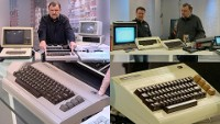 A Commodore C64, VIC-20 and SX64 computer in the TV-show Computer Club 2.