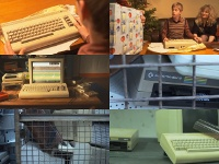 A Commodore C64 computer, a 1541 disk drive and a datassette in the movie Console - A Homeless Ghost.