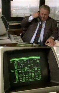 A Commodore CBM 8096D-SK in the TV-series Ein Fall für zwei.
