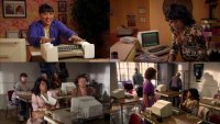 A Commodore C64 computer and a 1541 diskdrive in the TV-series Everybody Hates Chris.