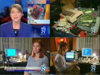 A Commodore C64, C-One and the C64-DTV in a KGW-TV news report.