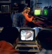 An Commodore CBM/PET in the music video Lazard - Living on Video.
